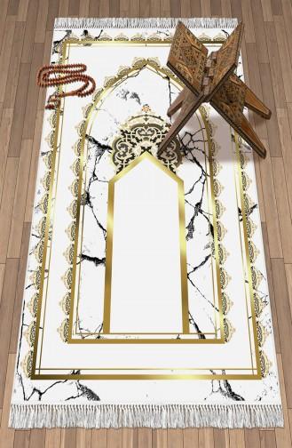 Decoling Bambu Pamuklu Seccade 1093 Beyaz Gold