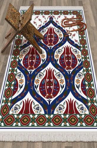 Decoling Bambu Pamuklu Seccade 1043 Beyaz Mavi