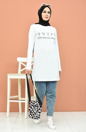 Printed Tunic 6026-03 white 6026-03