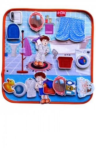 Tox Banyo Keçe Cırtlı Aktivite Sayfası Çocuk Etkinlik Eğitici Oyuncak T050200082 050200082
