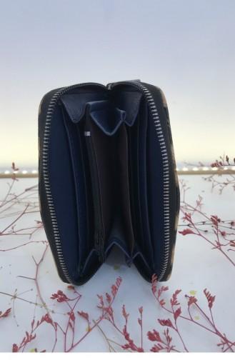 Leopar Desenli Çok Bölmeli Fermuarlı Midi Cüzdan Bs 000543 Kahverengı 000543.KAHVERENGI
