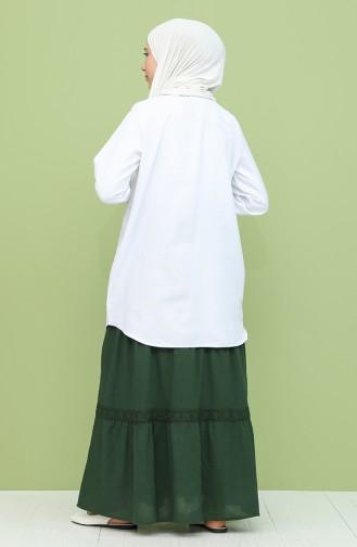 Jupe Vert Foncé 43002-07