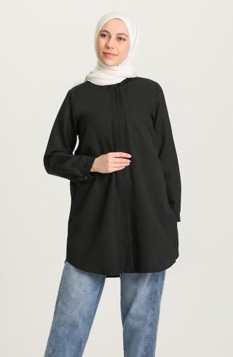 Gizli Patlı Basic Gömlek 5353-01 Siyah 5353-01