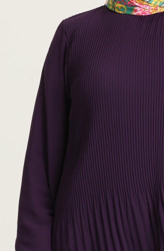 Piliseli Tunik Etek İkili Takım 202022-03 Mor