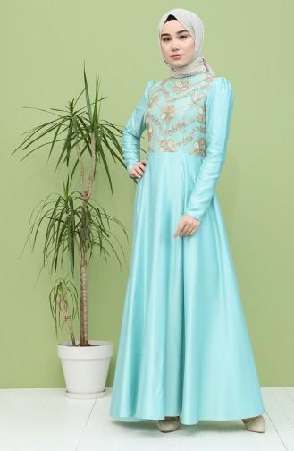 Habillé Hijab Vert menthe 7279-03