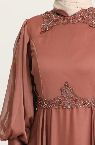 Habillé Hijab Tabac 52779-06