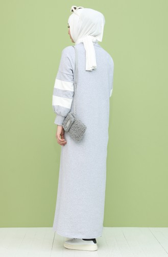 Grau Hijap Kleider 1005-04