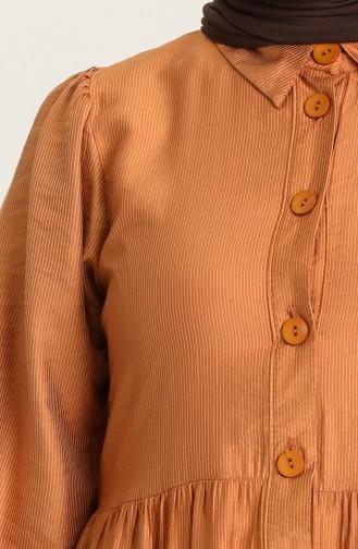 Robe Hijab Couleur brique 21Y8313-04