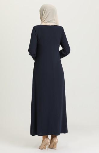 Navy Blue Abaya 1580-01