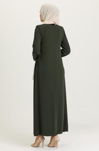 Khaki Abaya 3002-02