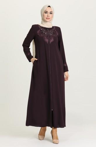 Purple Abaya 3002-03