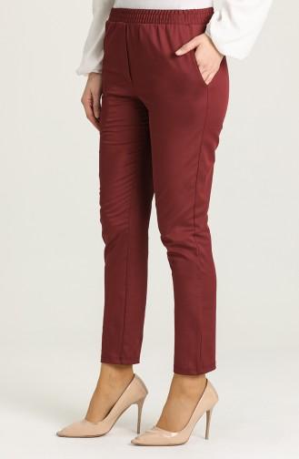 Pantalon Bordeaux Foncé 1013-04