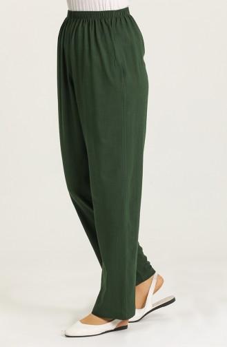 Pantalon Vert Foncé 14007-01