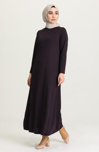 Purple Hijab Dress 0420-01