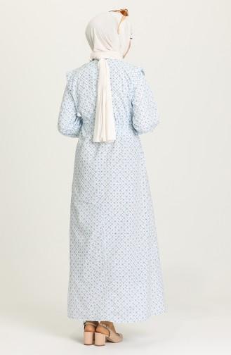 Minzenblau Hijap Kleider 21Y8322-08