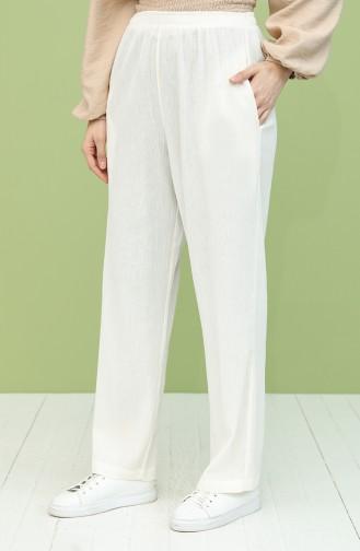 Pantalon Crème 14007-07