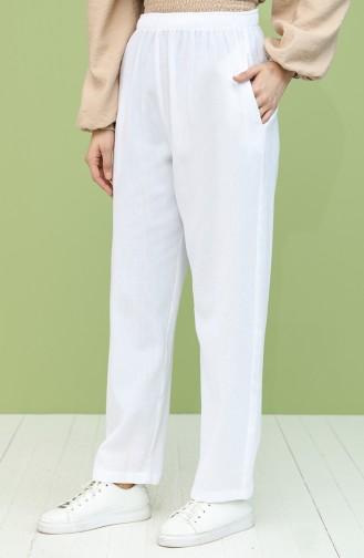 Pantalon Blanc 14007-04