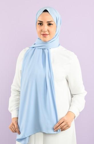 İthal Medine İpeği Şal 15258-09 Bebe Mavi 15258-09