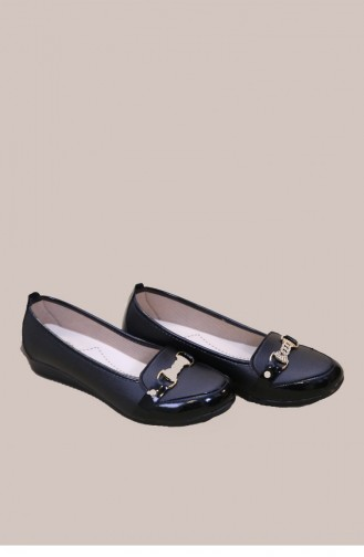 حذاء مسطح أسود 013