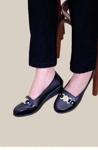 حذاء مسطح أسود 03