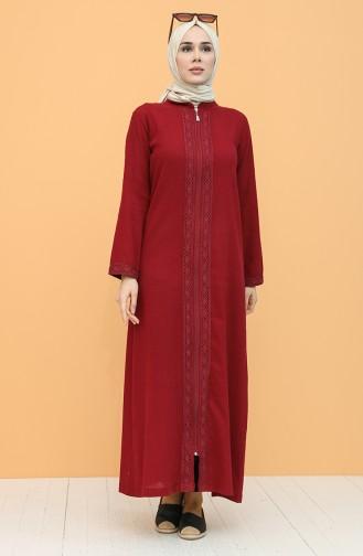 Claret red Abaya 42204-07