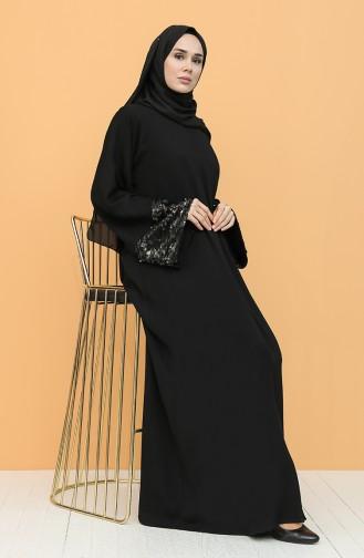 Pullu Ferace 1061-01 Siyah