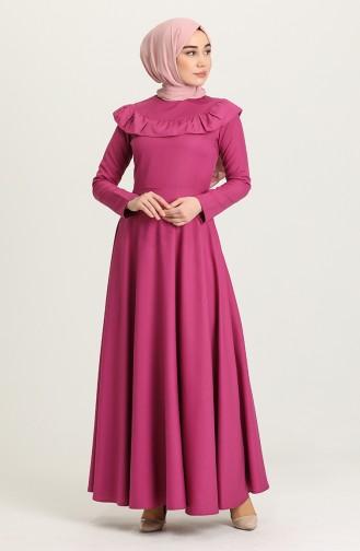 Fuchsia Hijab Dress 7280-05