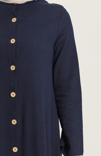 Navy Blue İslamitische Jurk 12204-08