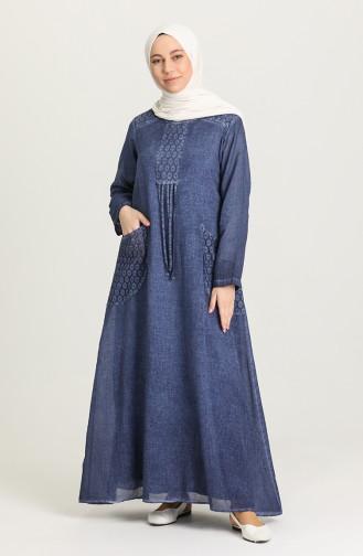 فستان نيلي 92211-01