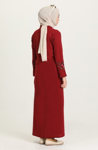 Claret red Abaya 22206-05