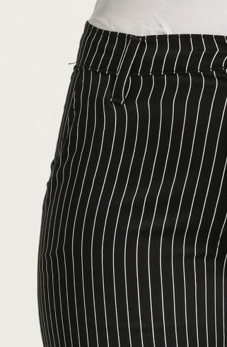 Cepli Likralı Pantolon 6499-01 Siyah