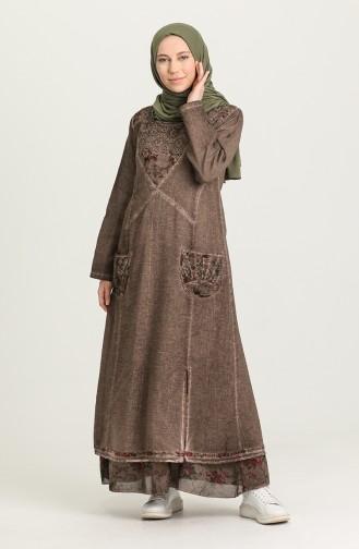 Dunkel-Nerz Hijap Kleider 92206-02