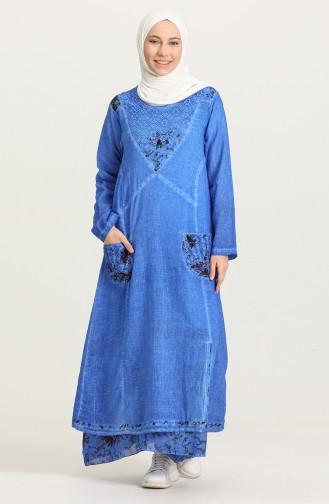 Saks-Blau Hijap Kleider 92206-04
