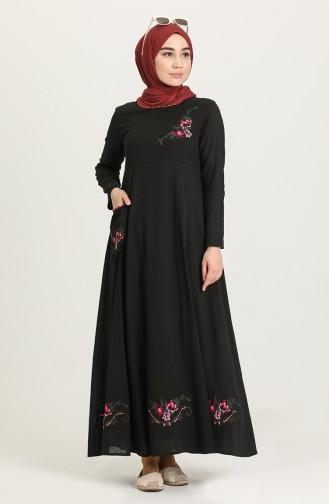 فستان أسود 22215 -07