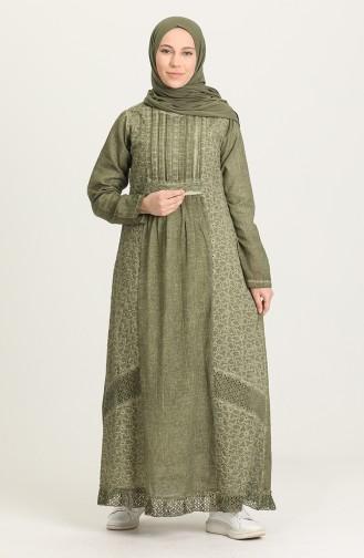فستان كاكي 92210-01