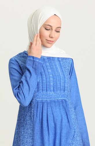 Saks-Blau Hijap Kleider 92210-02