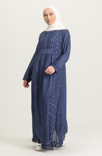 فستان نيلي 92210-06