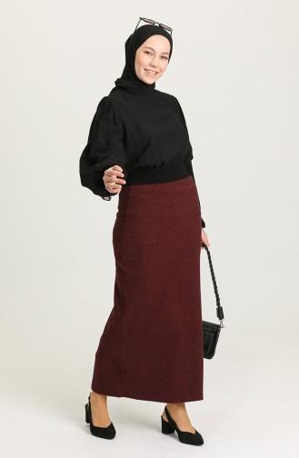 تنورة أحمر كلاريت 4161-03