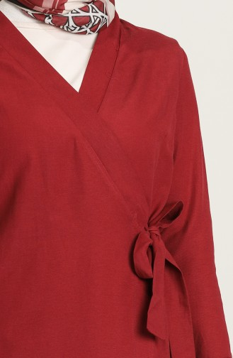 Claret Red Abaya 7291-03