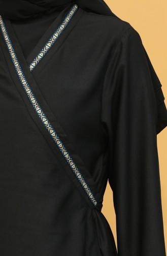 Robe de Prière Noir 1010-02