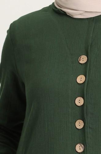 Robe Hijab Vert Foncé 12205-01