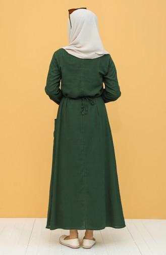 Robe Hijab Vert Foncé 22205-07