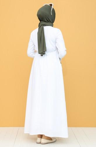 Weiß Hijap Kleider 22215 -02