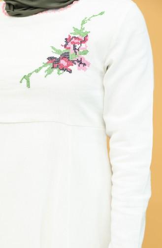 فستان كريمي 22215 -04