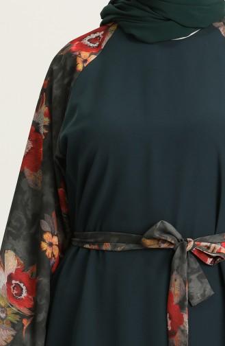 Smaragdgrün Hijap Kleider 2500-01
