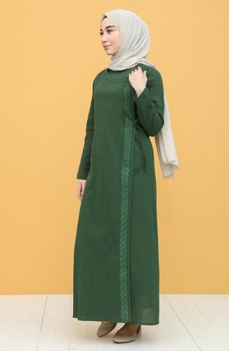 Robe Hijab Vert Foncé 0004-01