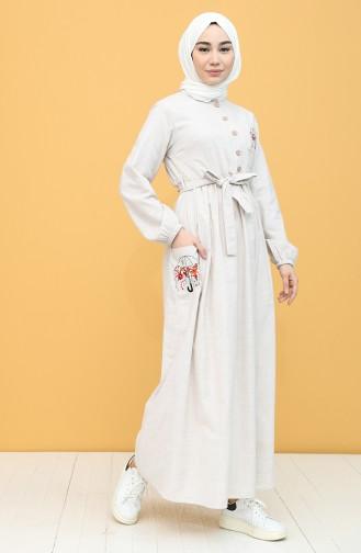 Beige Hijap Kleider 21Y8261-04