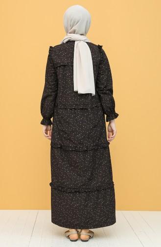 Robe Hijab Brun Foncé 21Y8306B-02