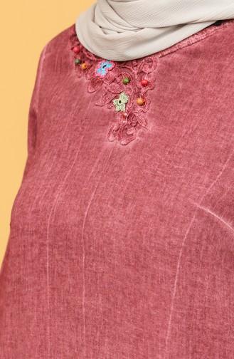 Şile Bezi Uzun Tunik 92209-04 Gül Kurusu