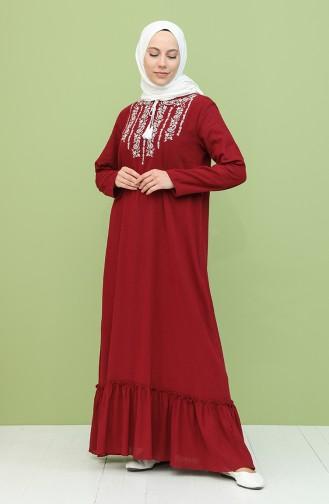 فستان أحمر كلاريت 22213-05